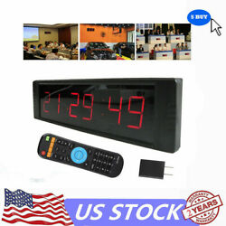 Large LED Digital Display Numbers Wall Clock Alarm Time Clock Countdown Timer