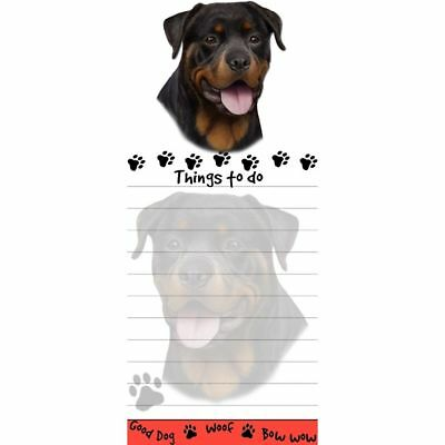 ROTTWEILER DOG DIECUT LIST PAD NOTES NOTEPAD Magnetic Magnet Refrigerator