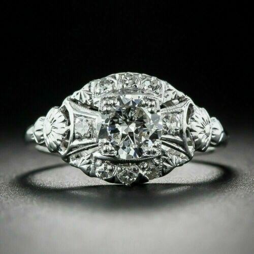 1.8Ct Diamond 925 Sterling Silver Incredible Iconic Retro Vintage Filigree Ring