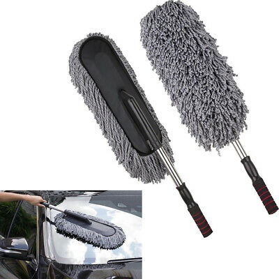 Car Cleaning Duster Microfiber Large Home Wax Treated Plastic Handle Brush