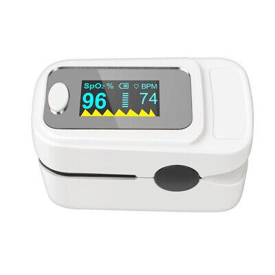 White New Fingertip Oled Pulse Monitor Oximeter Blood Oxygen Spo2 Pr Monitor