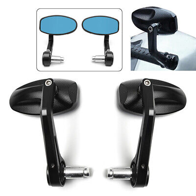 2PCS CNC MOTORCYCLE BAR END REARVIEW SIDE MIRRORS FOR TRIUMPH SPEED TR