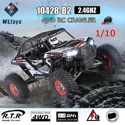 WLtoys 10428-B2 1/10 2.4G Electric Rock Crawler Off-Road Buggy RC Car RTR USA