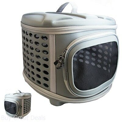 Travel Puppy Dog Cat Carrier Collapsable Kennel Hard Sided Lightweight Outdoor