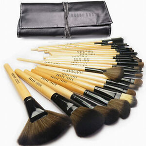 24 Pcs Soft Makeup Brush Set Goat Hair Cosmetic Makeup