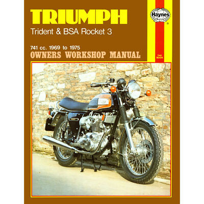 Triumph Trident and BSA Rocket inc Hurricane 1969-1975 Haynes Workshop Manual
