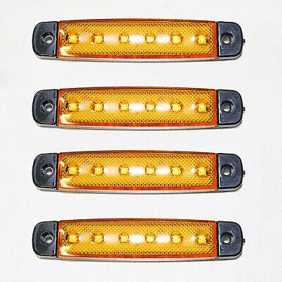 12V Gelb Positionsleuchte 4 X 6 SMD LED Umrißleuchte Begrenzungsleuchte LKW PKW