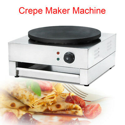 Commercial Electric Crepe Maker Machine Pancake Kitchen Single Crepe Maker 110v