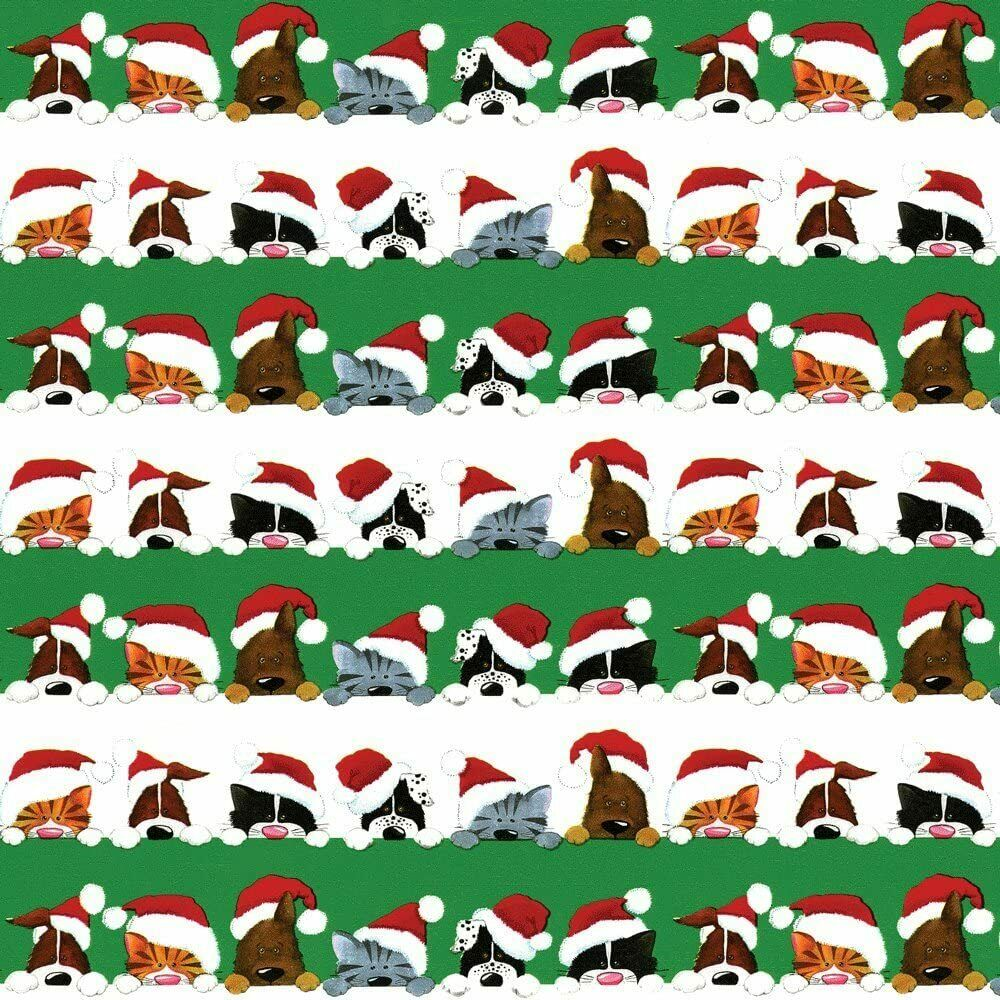 1 Roll of Gift Wrapping Paper, Christmas Peek A Boo, 8-Feet