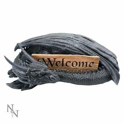 Large Dragon's Welcome Sign Figurine Home Garden Decoration Ornament  43.5cm