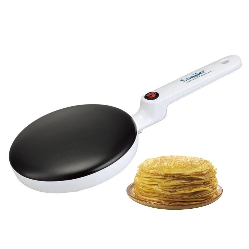 Electric Crepe Maker Pizza Pancake Machine Non-Stick Griddle