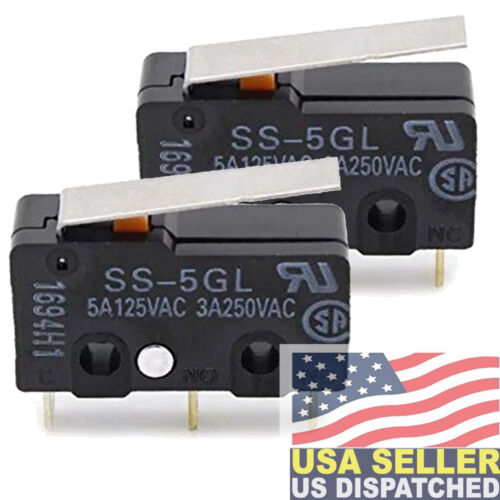 Omron SS-5GL (PACK OF 2)  Micro Switch 5A 125VAC 5A (AC), 4A (DC)