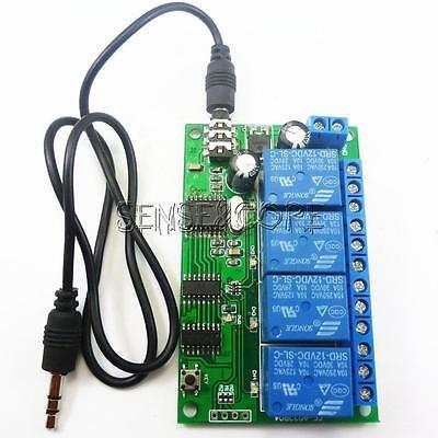 AD22B04 12V 4CH MT8870 DTMF Tone Signal Decoder Relay Phone Remote Control PLC Dtmf Tone Decoder