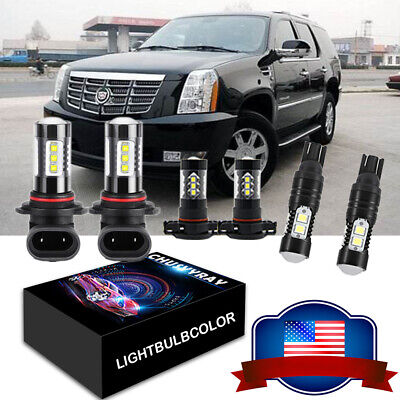 For Cadillac Escalade 07-14 6x Front Fog Driving DRL Lamps LED Lights Kits White
