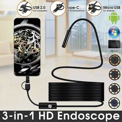 Megapixels HD USB C Endoscope Type C Borescope Inspection Camera for Android