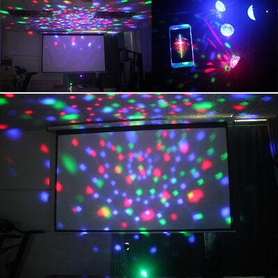 3W Mini Disco Ball RGB LED Stage Light Laser Show Party Sound Crystal Magic Ball