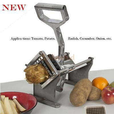 Commercial Restaurant Potato French Fry Fruit Vegetable Cutter Slicer W Blades