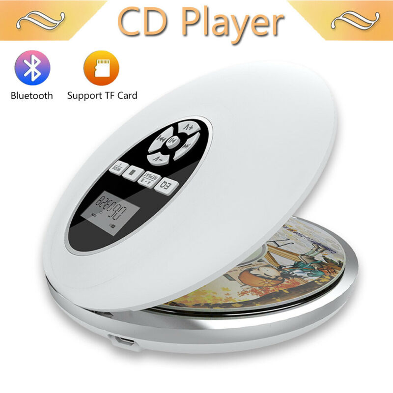 Bluetooth Wireless Portable CD Player  Walkman Music USB LCD Display
