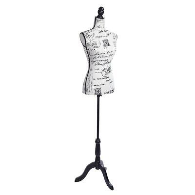 Female Mannequin Torso Dress Form Display Body With Tripod Stand Black Letters