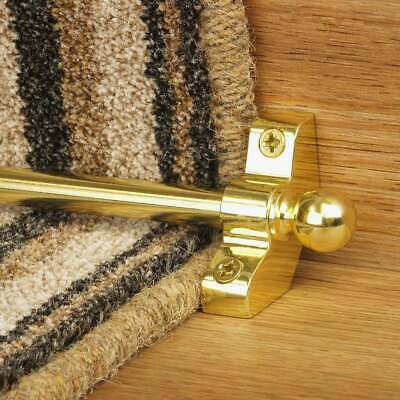 Brass 76cm long Hollow Cheap High Quality Stair Rod - pack of 3