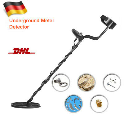 Metalldetektor Metallsuchgerät wasserdicht 16,5cm Suchspule Alu ABS L77,5-105cm