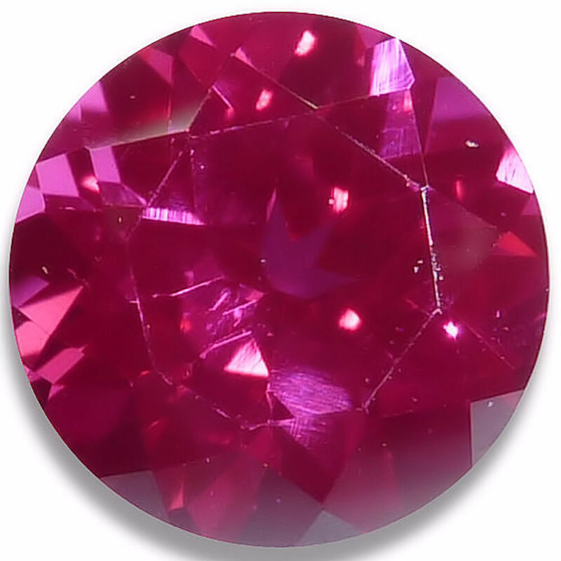 Lab Created Ruby Round Fine Red Faceted Loose Gemstones Fine Cut AAA