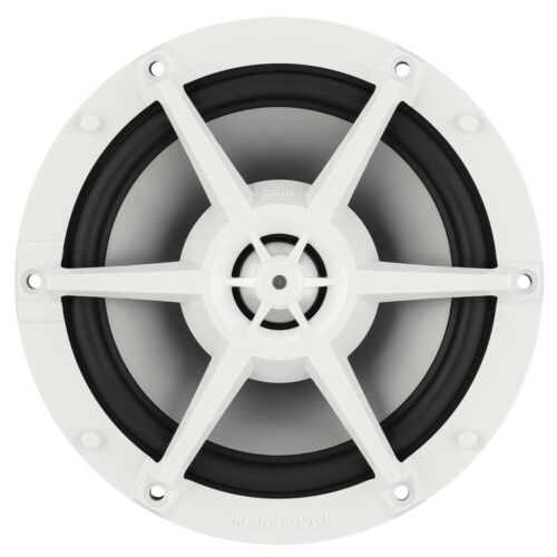"Polk Audio 8.8"" Waterproof Marine Speakers 250 W Pair Coaxial Flush Mount, White"