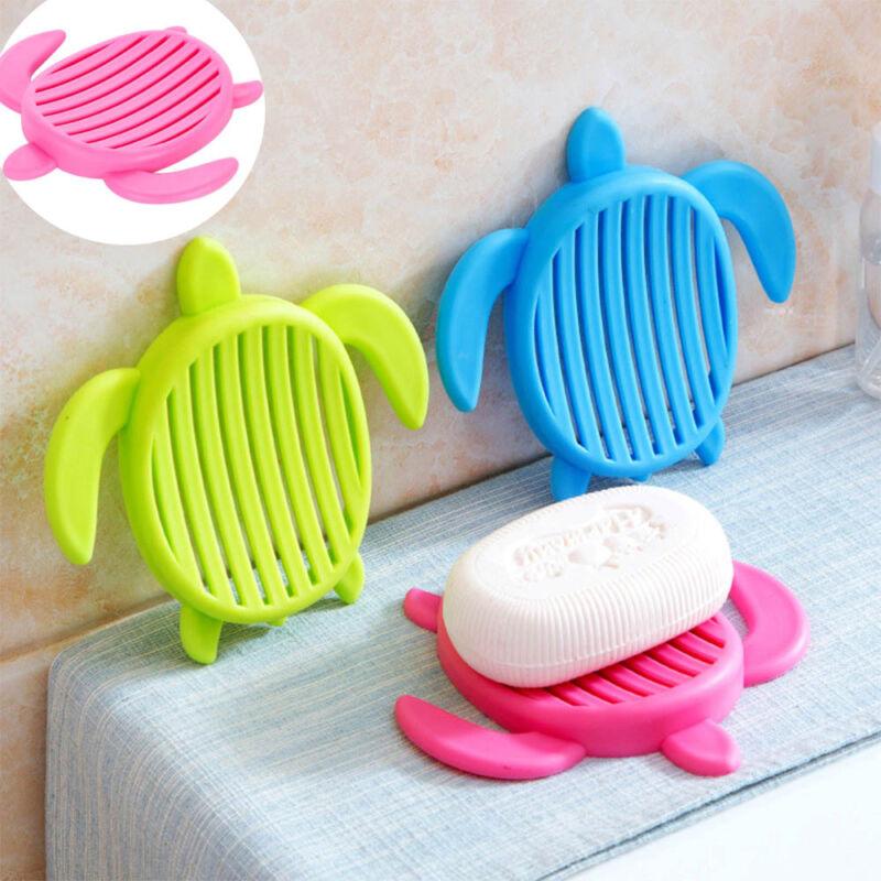 1pc Creative Turtle Shape Soap Box Soap Storage Container Bathroom Accessories
