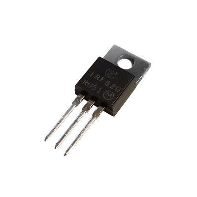 5x Irf820 N-channel Mosfet 500v 2.5a Motorola