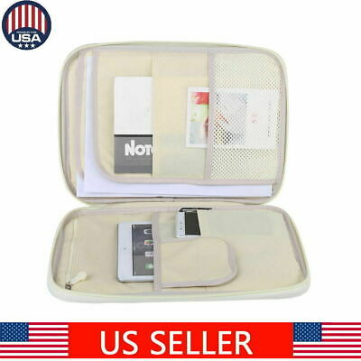 A4 Document Bag File Folder Portfolio Organizer Zippered Waterproof Carry Cases