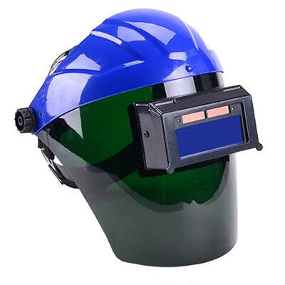 Solar Auto Darkening Welding Helmet Semi-open Solar Face Shield Mask Blue