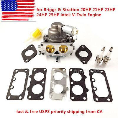 Carburetor for Briggs & Stratton 20HP 21HP 23HP 24HP 25HP intek V-Twin Engine US