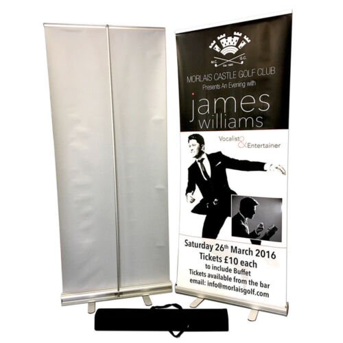 Roller Banner Popup Portable Advertising Comic Con Trade Show Sign With Print