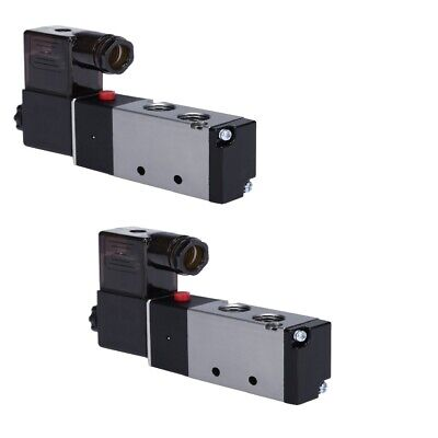2x 14 Direction Control Air Solenoid Valve Pneumatic 4 Way 2 Position 110v Ac