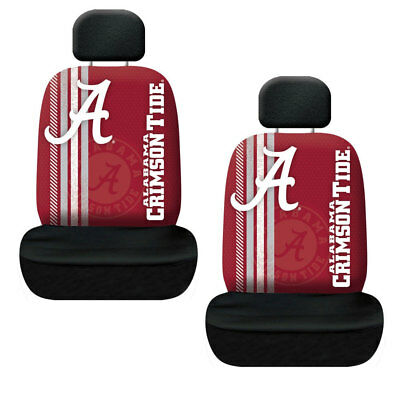 NCAA Alabama Crimson Tide Rally Car 2 Front Seat Covers & Headrest Covers Set