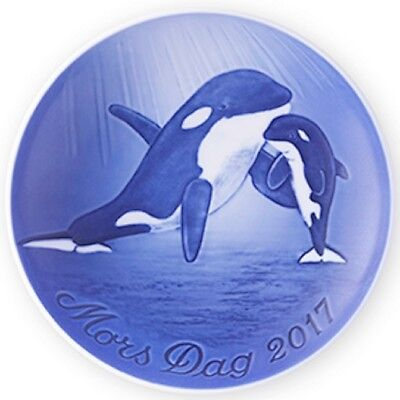 BING & GRONDAHL 2017 Mother's Day Plate B&G MIB ORCA with CALF – New in Box!