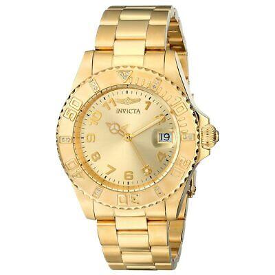 Invicta Women's Watch Pro Diver Gold Tone Dial Quartz Steel Bracelet 15249