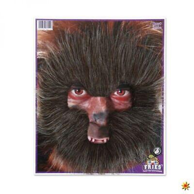 Werwolf Fellmaske braun Bart Märchen Wolf Fabelwesen Vollmaske Gesichtsmaske