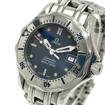 OMEGA 2582.80 Seamaster Professional Quartz Wristwatch SS Silver