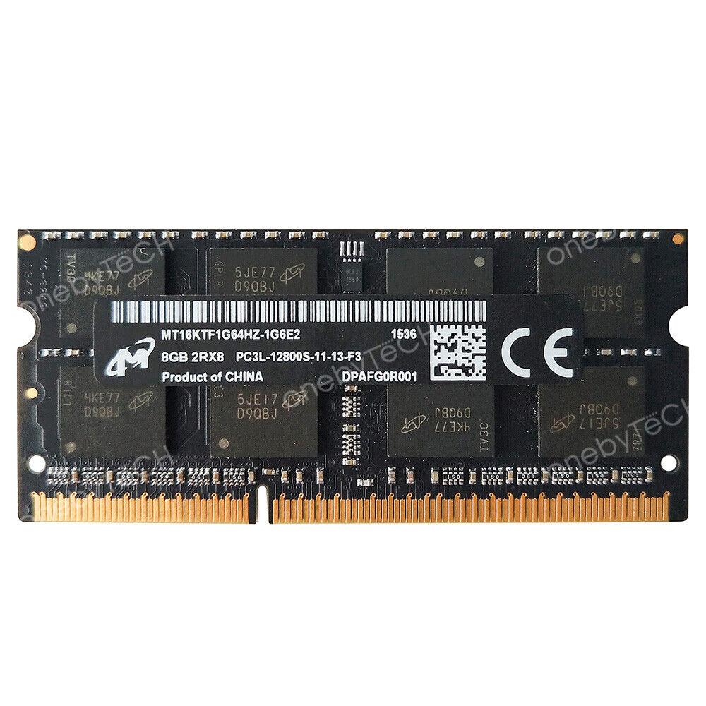 Micron 16GB 2X8GB PC3L-12800S DDR3-1600 204pin 1.35V SODIMM Laptop Memory Module
