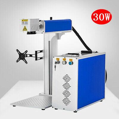 30w Split Fiber Laser Marking Machine Deep Cutting With Rotary Device And Dhl Ce
