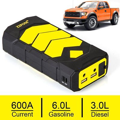 ZIPOM Heavy Duty 600AMP USB Jump Starter Battery Car Power Bank Charger Booster
