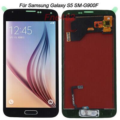 - Button (Für Samsung Galaxy S5 SM-G900F LCD Display Glas Ersatz Bildschirm Schwarz+Button)