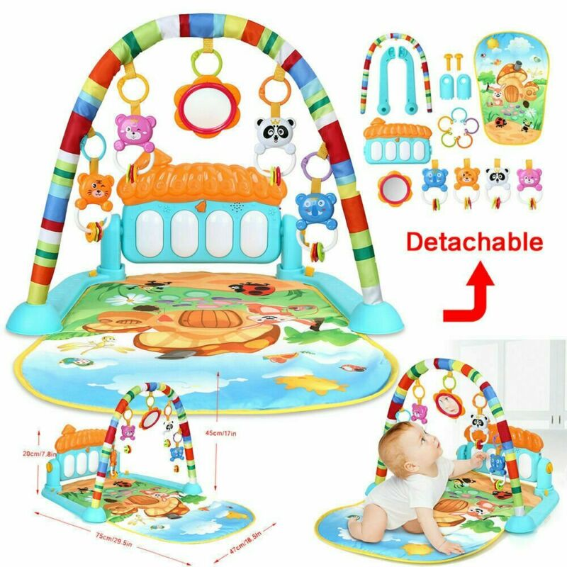 3 in 1 Baby Light Musical Gym Play Mat Lay & Play Fitness Fun Piano Boy Girl US