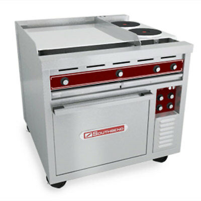 Southbend Se36a-tth 36 Electric Convection Range W 24 Griddle 12 Hotplate