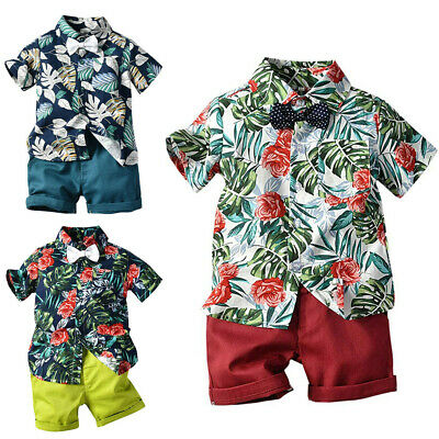 US Toddler Kids Baby Boys Clothes Outfits Sets Short Tops T-Shirt + Pants Shorts