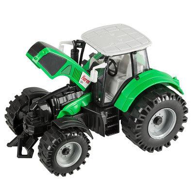 Idena Traktor 20 cm Schlepper Anhängerkupplung Bauernhof Farm Auto Spielzeug Auto Schlepper Spielzeug