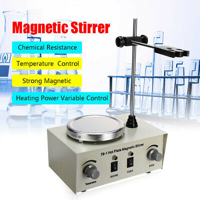 79-1 Hot Plate Magnetic Stirrer Mixer Stirring Laboratory Dual Control 1l New