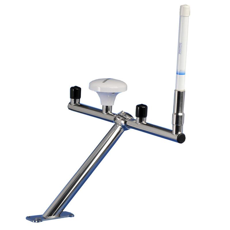 Scanstrut T-Bar Stainless Steel Multiple GPS/VHF Marine 4-Antenna Boat Mount