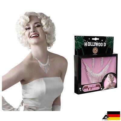 Hollywood Schmuck Set Halskette Ohrringe Faschingskostüm Karneval VIP - Hollywood Kostüm Karneval